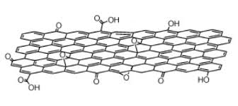 Single Layer Graphene Oxide Molecular Structure