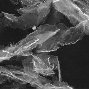 O+ Functionalized Graphene Nanoplatelets SEM image